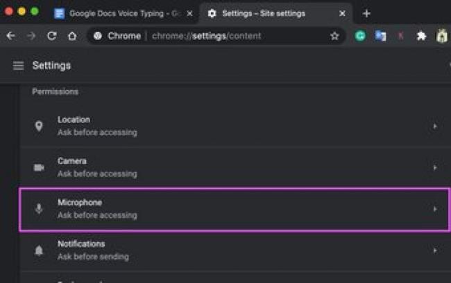 Исправить голосовой ввод в документах Google не работает 07